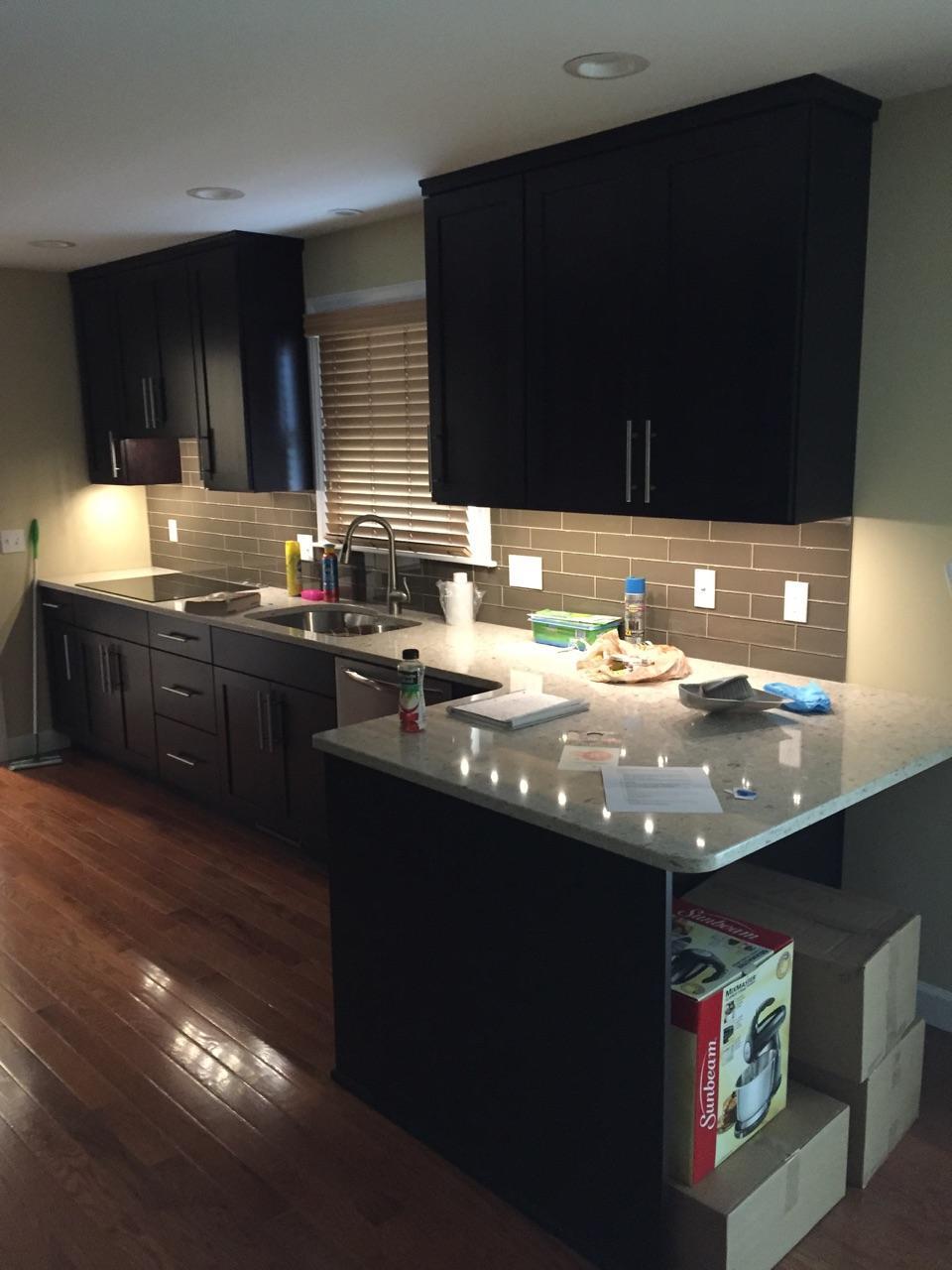 Finished Kitchen Lighting