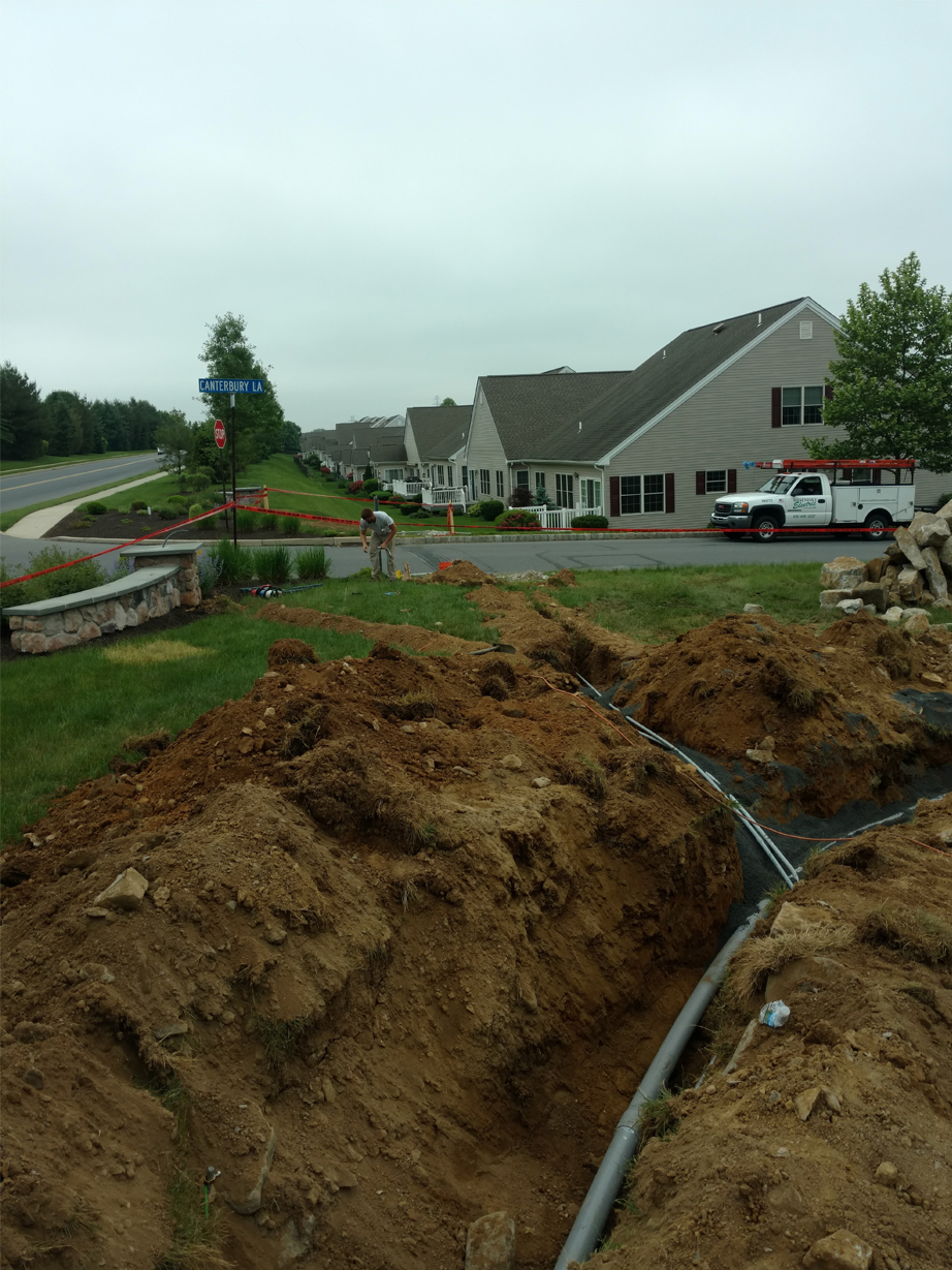 underground electrical piping work